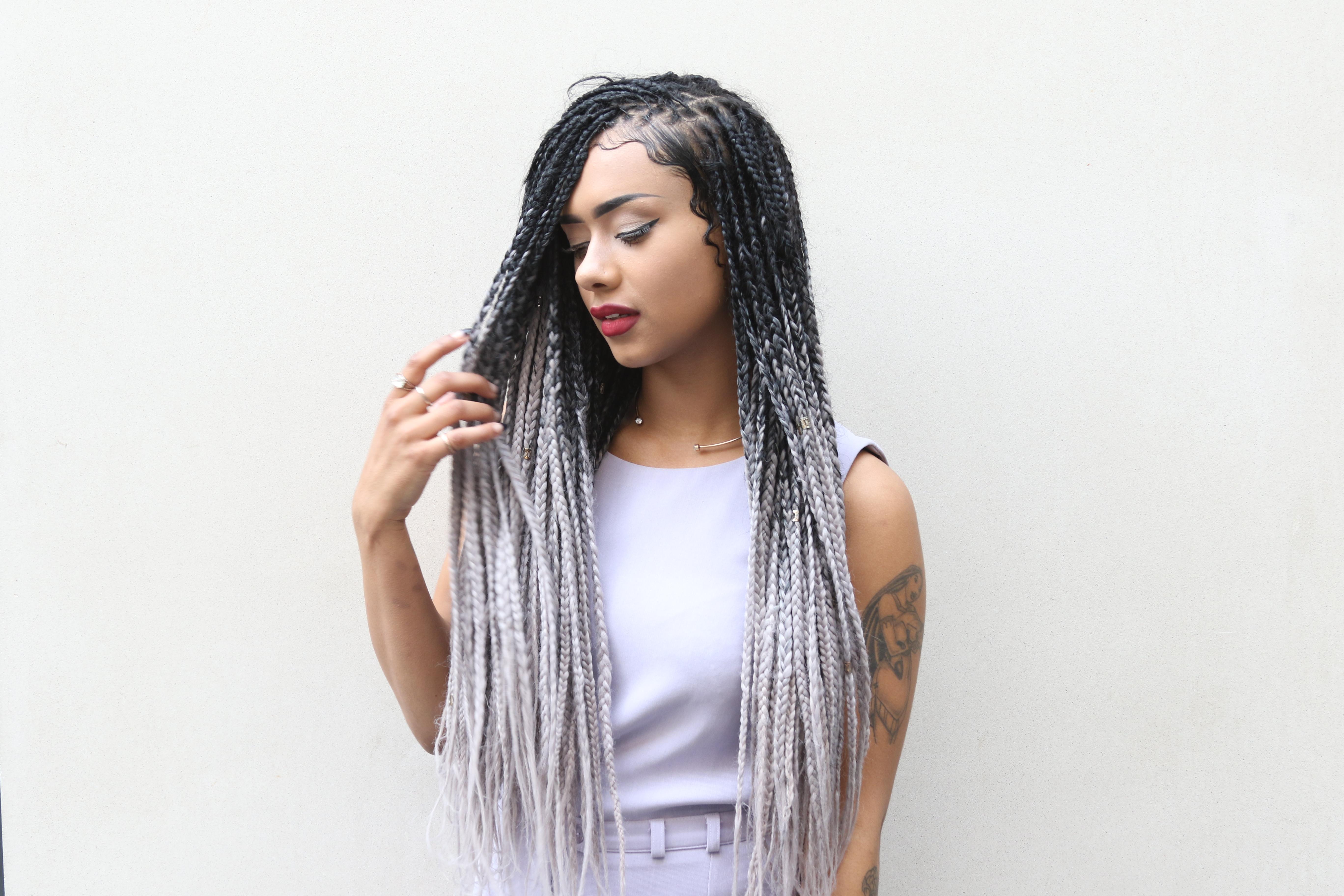 Grey Hair Color On Brown Skin