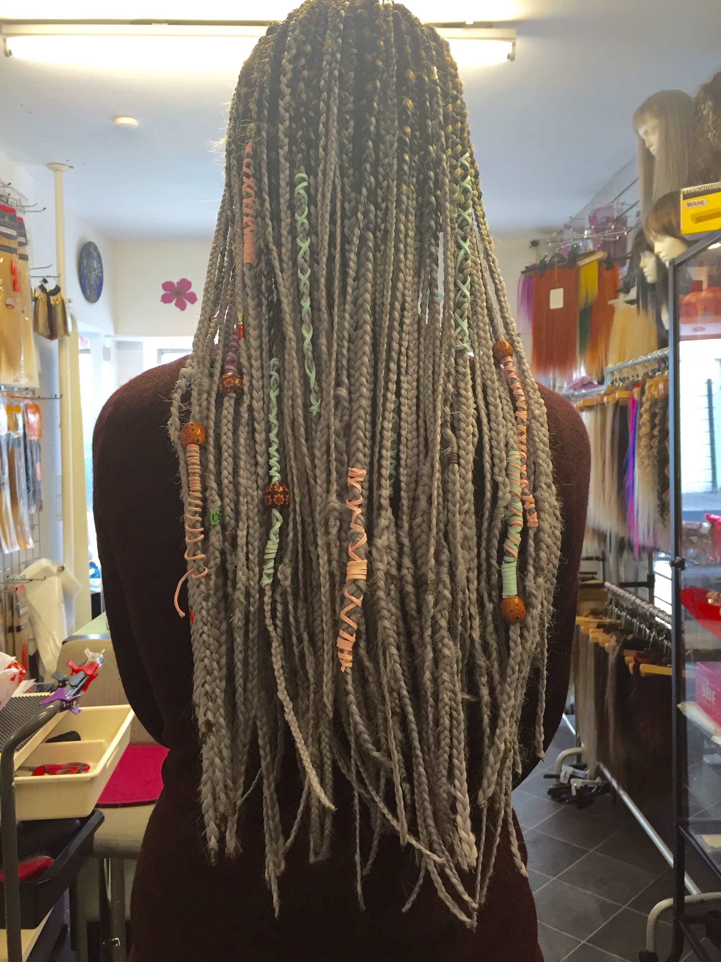 Catface Hair Black Grey Ombre Jumbo Braiding Hair