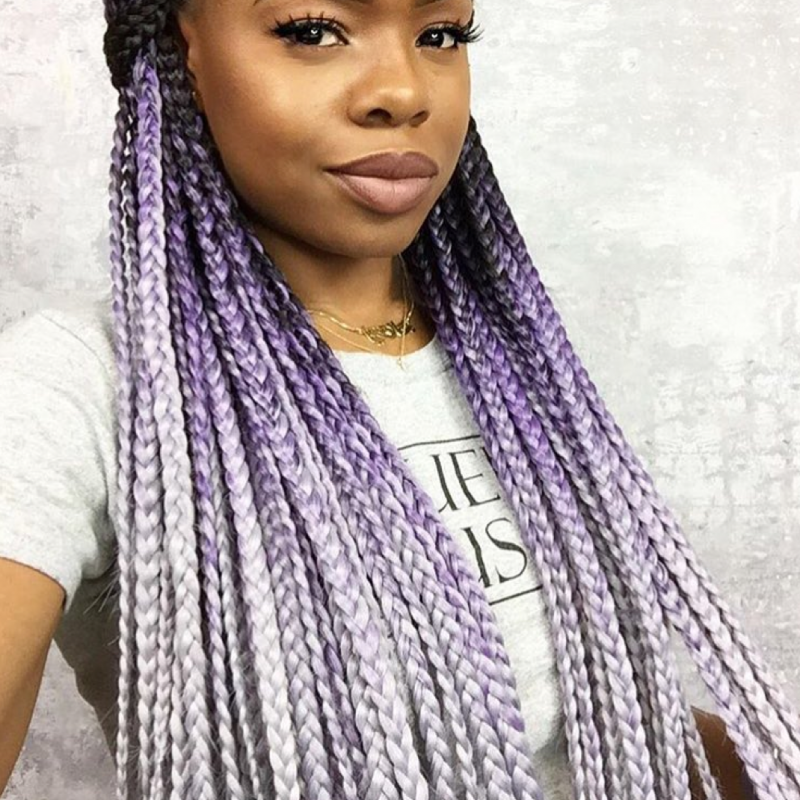 Catface Hair Black Grey Ombre Jumbo Braiding Hair